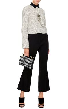 Silk Printed Polo Neck Blouse  by Marni Now Available on Moda Operandi