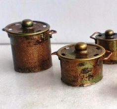 How to: Miniature pots.-Snaps are the lids, body is paper, but could use clay, wire for handles