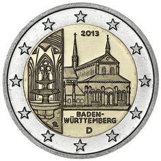 moneda conmemorativa 2 euros Alemania 2013. 5 monedas.