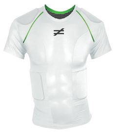 The Unequal Invincible® - $89.95. This contact sport undergarment is for multiple sports but was designed for football. Features wraparound rib-guards that accommodate shoulder pads with no overlap. Lightweight shirt uses military grade protection fortified with TriDur™ aramid fabric and Accelleron®. Included clavicle protective pads bolster shoulder padding. Lightweight, with no motion restriction. Available in 6 colors.