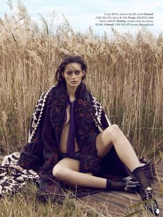 visual optimism; fashion editorials, shows, campaigns & more!: coming undone: jenna klein by holly blake for elle australia august 2014