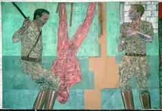 Works by Leon Golub (1922-2004).  Find more on Artnet here or on Ronald Feldman Gallery here .