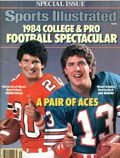 1984 issue of Sports Illustrated with Dan Marino of the Miami Dolphins on the cover Sports Magazine Covers, Miami Dolphins, Nfl Goat, Chicago Cubs Baseball, Nfl Football, Browns Football, Football Stuff, Football Memes, Sports
