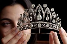 ee of Christie's action house displays a rare antique diamond tiara by Faberge, circa 1890, FABRICE COFFRINI/AFP/Getty Images