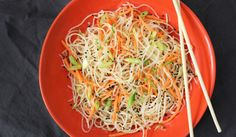 Asian Sesame Dressing and Noodles