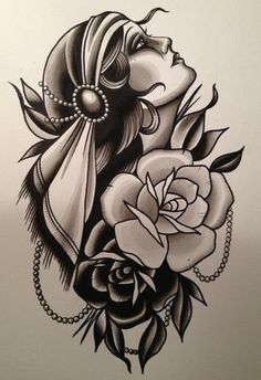 Cassandra Frances - Gypsy Girl. This would make a neat tattoo!   ...........click here to find out more     kok.googydog.com