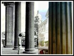 Monte De Piedad Building (Now Prudential Bank Building) then and now photo SEE MORE: http://www.filipiknow.net/then-and-now-photos-of-manila/