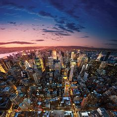 New York City, New York - Manhattan at Sunset - Photography (Art Prints, Wood & Metal Signs, Modern Photography, Sunset Photography, Italy Tours, Seven Wonders, Luxury Holidays, Architecture Photo, Aerial View, Vacation Destinations, Seattle Skyline
