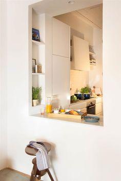 4 veces he visto estas radiantes cocinas abiertas. Home Decor Kitchen, Kitchen Interior, Home Kitchens, Kitchen Dining, Dining Rooms, Kitchen Ideas, Kitchen Pass, Open Plan Kitchen, Earthy Home