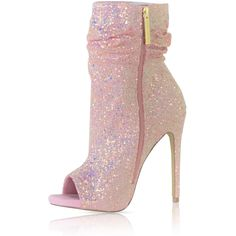 """Shoes and then there """"Spotlight""""! Be the center of attention in these must have booties! - Open toe - Fits true to size - Heel: - platform - Side zipper closure Fancy Shoes, Pretty Shoes, Hot Shoes, Crazy Shoes, Beautiful Shoes, Me Too Shoes, Shoes Heels, Disco Shoes, Sequin Shoes"""