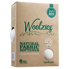 Woolzies wool dryer balls, natural fabric softener 6ct