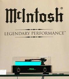 High end audio audiophile McIntosh Turntable