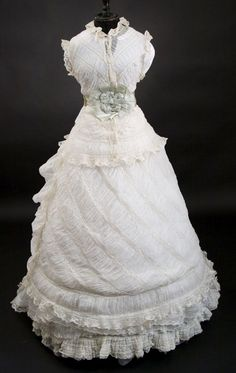 RARE 1800's Vintage Victorian Lace wedding dress/ gown by tanja004