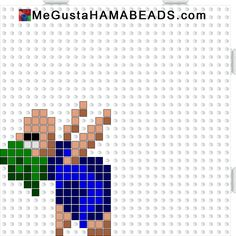 hama beads lemmings 1