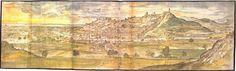 Vista de #Sagunto realizada por Wyngaerde en 1563 para Felipe II.