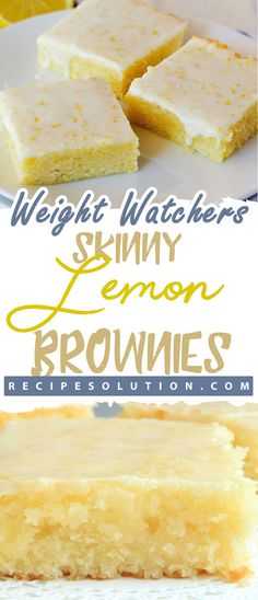 you love lemon bars or lemon brownies ? this lemon lemon brownies recipe is the best ever, come with only 3 weight watchers points. Nutrition: calories fat g, carbs g, fiber g, protein … Weight Watcher Desserts, Weight Watchers Meals, Weight Watchers Brownies, Ww Desserts, Healthy Desserts, Dessert Recipes, Healthy Recipes, Healthy Breakfasts, Healthy Foods