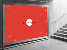 Free Underground Horizontal Billboard Mockup For Advertisement by Ess Kay   Free Mockup Zone