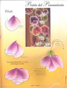 Tecnica doble carga en flores. - El blog de valery