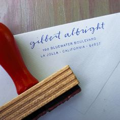 Drift Stamp $52 - your name in handwritten calligraphy, address in typeset