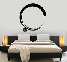 Vinyl Wall Decal Enso Circle Zen Japanese Calligraphy Art Stickers Mural (475ig)