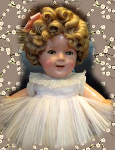 "1930s Ideal Shirley Temple Doll Curly Top Big 24"" Composition Beauty 