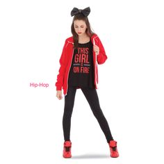 This is my Hip-Hop dance uniform from JFK (Just for Kix)