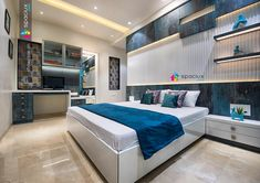 I-Design Interior Designers, a Pune based space designing firm founded in the ye. Source by interiorrdesignnn Wardrobe Design Bedroom, Bedroom Wall Designs, Bedroom Bed Design, Bedroom Furniture Design, Modern Bedroom Design, Master Bedroom, Bad Room Design, Study Room Design, Home Room Design
