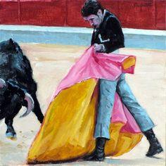"""Daily+Paintworks+-+""""Quite+por+verónicas""""+-+Original+Fine+Art+for+Sale+-+©+Eduardo+Carpintero"""