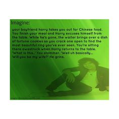 harry styles imagine omg I am going out to eat Chinese food right now omg!!!| Tumblr ❤ liked on Polyvore