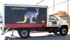 Yellow Tail Wine truck graphic.