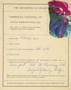 American textiles, '
