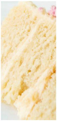Soft Vanilla Cake Recipe, Vanilla Birthday Cake Recipe, Vanilla Cake From Scratch, Homemade Vanilla Cake, Vanilla Bean Cakes, Birthday Cake Flavors, Vanilla Cake Mixes, Homemade Birthday Cakes, Cake Recipes From Scratch