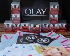Contenido de la caja del Proyecto #olayregenerist Olay Regenerist, Crates, Blue Prints