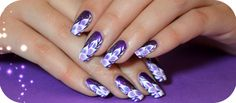 Nail art one stroke plumes exotiques