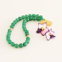 Green 8mm round faceted Jade beads 33 Tasbih by Vanilleecom
