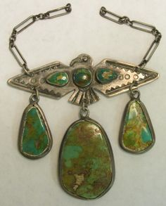 Fabulous 1930's Fred Harvey / Route 66 style necklace.