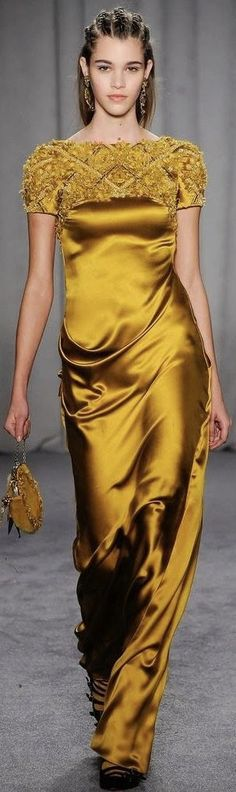 Yellow Evening Gown, Evening Gowns, Dressy Dresses, Prom Dresses, Gowns Of Elegance, Glamour, Designer Gowns, Marchesa, Beautiful Gowns