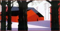 Red Barn - Eyvind Earle