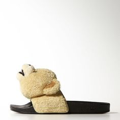 timeless design 1c84b de922 Adidas Jeremy Scott Teddy Bear Slides Flip Flops Adilette Sandals B27135 UK  10