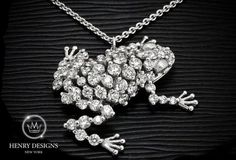 """You have to kiss a lot of #frogs before you find your handsome prince."" - The #Frog Prince - #Jewelry #Stylish #Accessory #Design #Fashion #HenryDesigns #Trendy #Style #Look #Fashionable #Collection #necklace #diamonds #diamond"