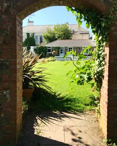 The walled garden area at Beaconside House wedding venue in Devon