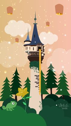Rapunzel's Tower || Disney iPhone Wallpaper