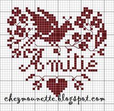Chez Mounette: Coeur amitié rouge