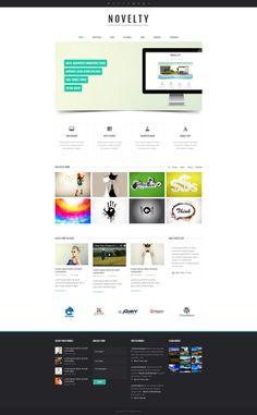 Novelty - Retina Ready Responsive Wordpress Theme  #wordpress #theme #website #template #responsive #design #webdesign #flat #flatdesign