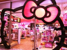 Hello Kitty Store. i would go crazy shopping in here.