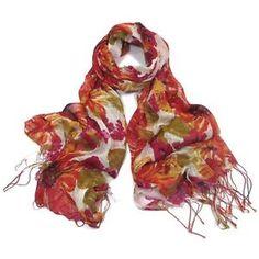 ladies scarf Florance scarves shawls wrap neck soft fashion Floral Tasseled