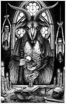 #satanic #satan #darkart #occultart #occult #illustration #cursed #666 #evil #art #symbols #baphomet #blackandwhite #b&w