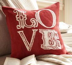 Pottery Barn Love Sentiment Pillow Covers 3
