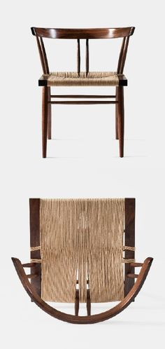 GEORGE NAKASHIMA, Grass Seated Chair, 1947. / George Nakashima Woodworker