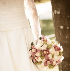 Bouquet Flor e Forma White Roses Lilac/Pink Orchids